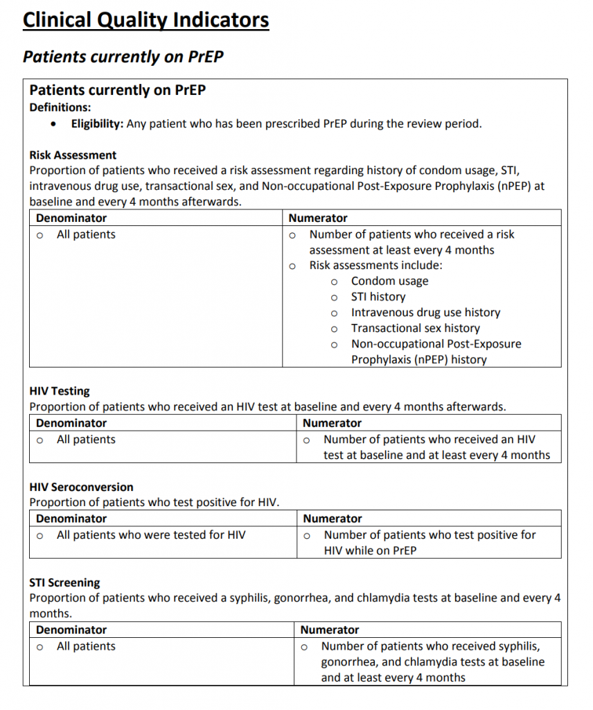 PrEP Implementation - AIDS Institute Clinical Guidelines